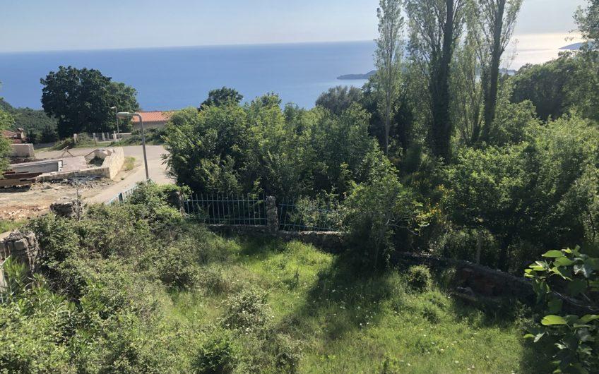 Zemljište s kućom u Kulacima, Budvanska rivijera- Pogled na more