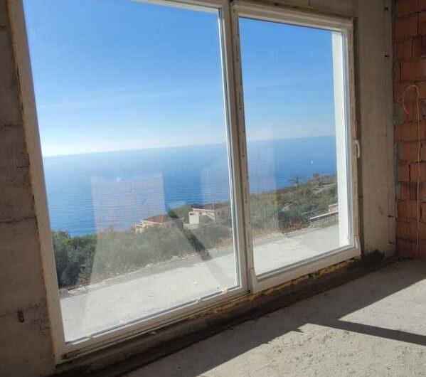 Nova vila u Reževićima s panoramskim pogledom na more